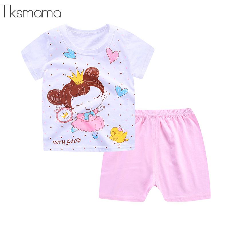 Summer time Child Lady Outfit Kidsclothes Pink Lady Princess Put on Clothes Units Toddler 100% Cotton Clothes