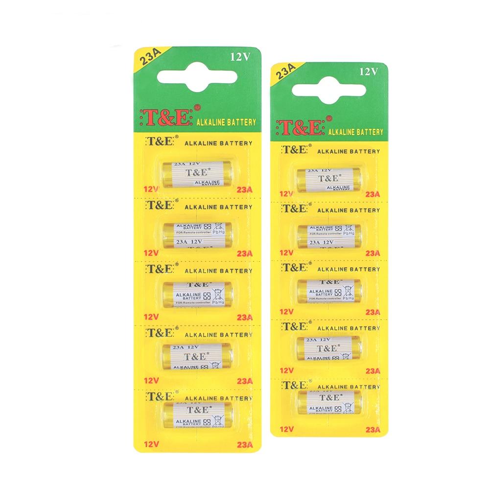 10 Pcslot 12v Alkaline Batteries A23 23A 23AE E23A V23GA MN21 GP23A LRV08 Dry Bateria For Remote Razor Clock Toy LED Flashlight