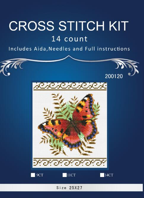Free Delivery Top Quality Hot Selling Lovely Counted Cross Stitch Kit Butterfly DIM 35058 3