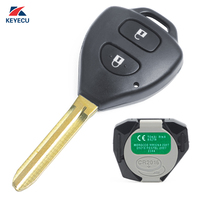 Mando a distancia de coche KEYECU original 2 botones 433MHz 4D67 para Toyota hi lux  Fortuner  4 Runner  iQ 2006 2011 P/N: B42TA|button replacement|buttons buttons|button for car -