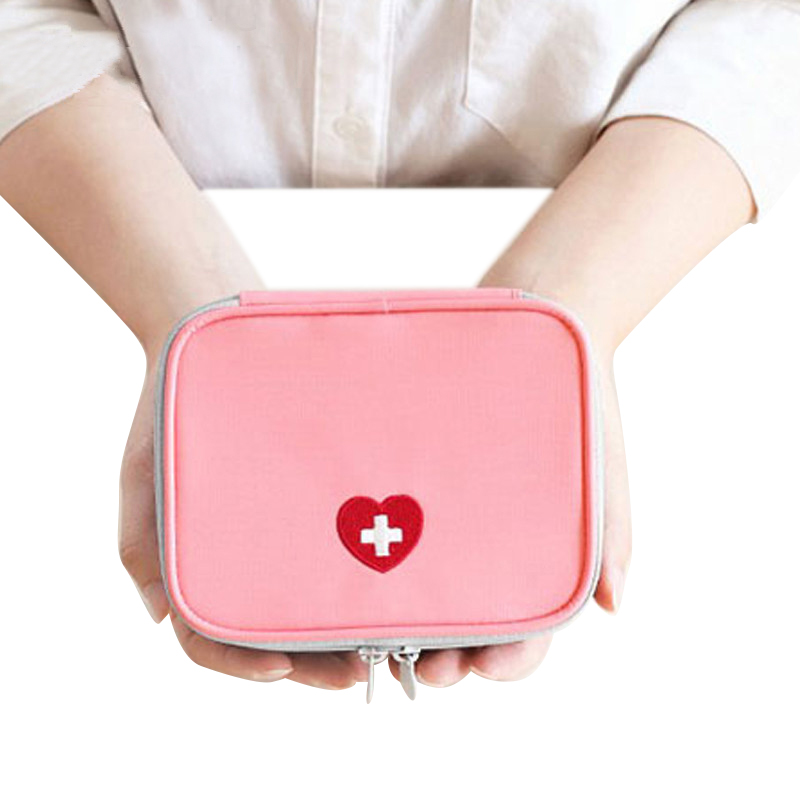 JULY'S SONG Cute Mini Portable Medicine Bag First Aid Medicine Travel Bag Emergency Kits Organizer Pill Bag Travel Accessories
