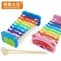 8 Escalas xilófono bebé instrumentos de percusión piano music juguetes para bebés juguetes educativos de madera para niños