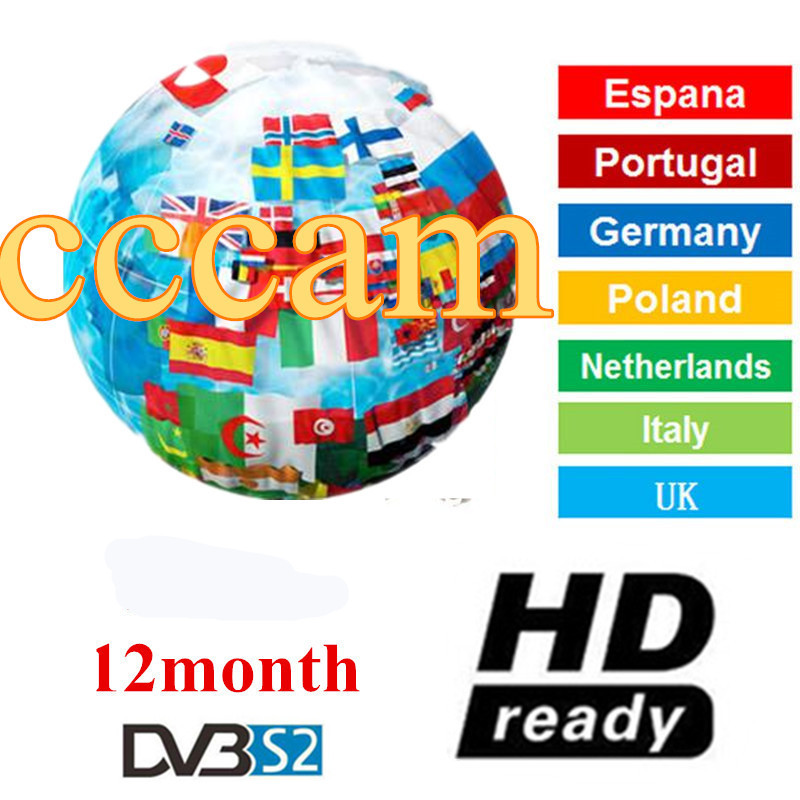 Cccam 7 Lines Full HD 1 Year Cccam Cline For Europe 10 Lines IPTV Use For Satellite TV Receiver DVB-S2 Server Hd