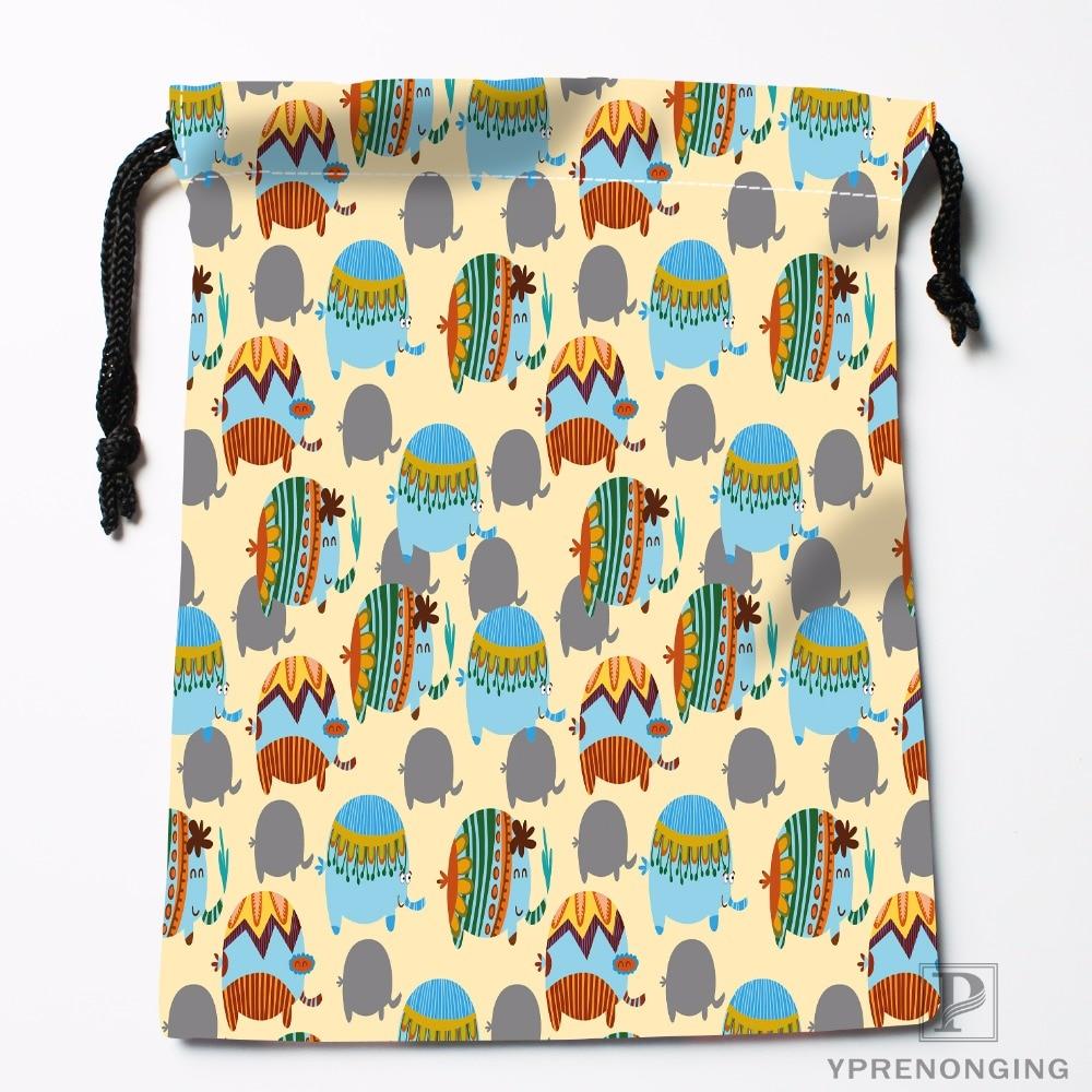 Custom Circus Elephant Drawstring Bags Printing Travel Storage Mini Pouch Swim Hiking Toy Bag Size 18x22cm#180412-11-76