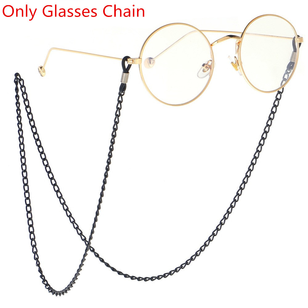 1Pcs Vintage Glasses Chain Holder Women Men Fashion Black Sunglasses Eyeglass Neck Cord Retainer Strap Eyewear Spectacles Holder
