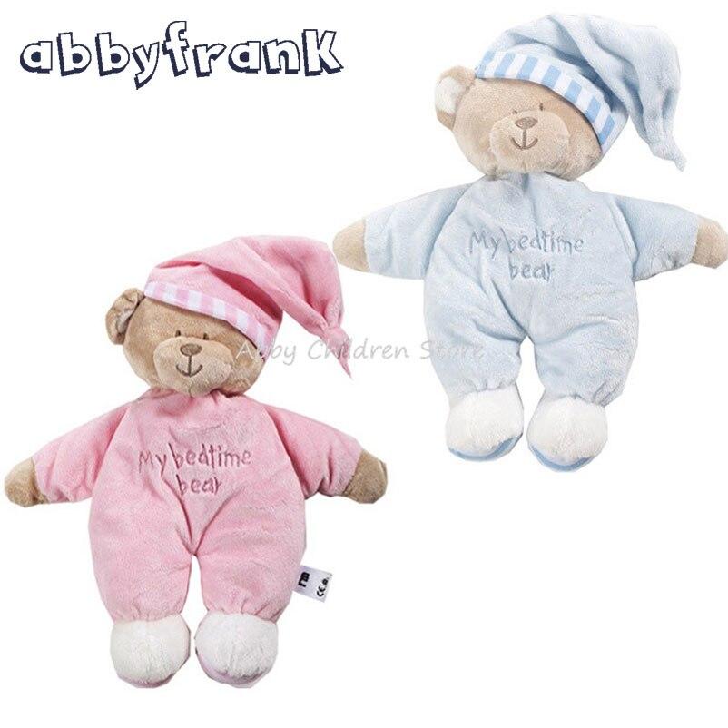 Abbyfrank 40CM Cute Teddy Bear Stuff Plush Pink Animal Bear Dolls Soft Stuffed Plush Animals Dolls Baby Birthday Gifts Toys
