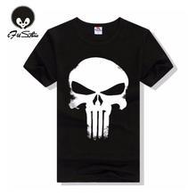 New Brand Clothing Summer Skull Dark Souls Punisher Print 3D T Shirt Men T-shirts 100% Cotton T-shirt Man Shirts Blouse Camiseta