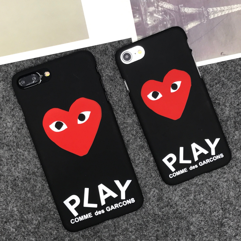 uk availability 221ba 43a56 luxury famous brand CDG Play Matte Hard Protect Cases For iphone 5S SE 6s 6  7 8 Plus Phone Cover coque case on Aliexpress.com   Alibaba Group