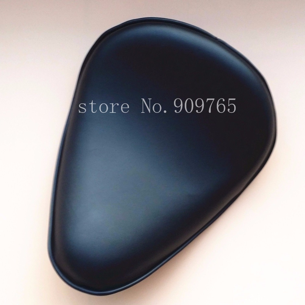 Black Leather Solo Seat for Harley Dyna Sportster Custom Bobber Chopper Vintage 22 bobber cafe oldschool chopper