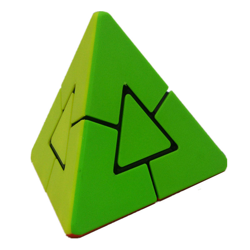 Lefang 2x2 Strange Shape Pyramid Magic Cube Brain Teaser Puzzle Cube Educational Toy For Children yj brain teaser 2 x 2 x 2 magic iq cube multicolored