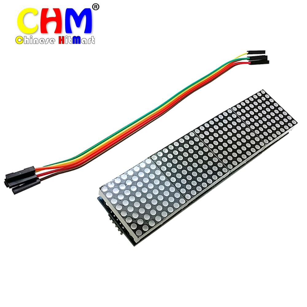MAX7219 Dot Matrix Module For Arduino Microcontroller 4 In One Display with 5P Line #bp1610002