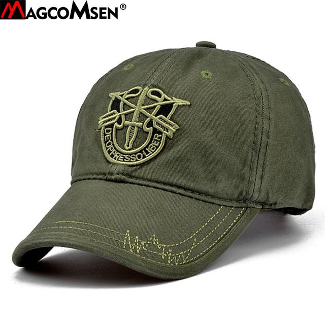eb60da369fe60e MAGCOMSEN Summer Baseball Caps Men Army Camouflage Tactical Caps Hat  Adjustable Combat Hats Tacticos Bone Masculino AG-CP-08