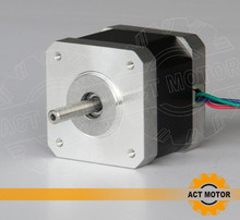Good Quality! ACT 1PC Nema17 Stepper Motor 17HS4417 2Phase 56oz-in 40mm 1.7A CE ROSH ISO 3D Printer Reprap Engraving CNC Router