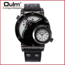 Japan Movement Military Army Wristwatches Luxury Watches Men Brand Oulm 9591