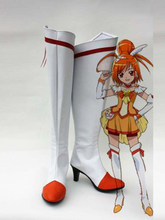Smile Pretty Cure Hino Akane Cure Sunny Cosplay Boots Shoes Anime Party Cosplay Boots Custom Made for Adult Women Heel Shoes(China)