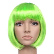 Sexy Short Bob Cut Hairpiece Fancy Dress Up Party Wigs Role Play Costume Ladies Full Wig For Cosplay Themed Parties(China)