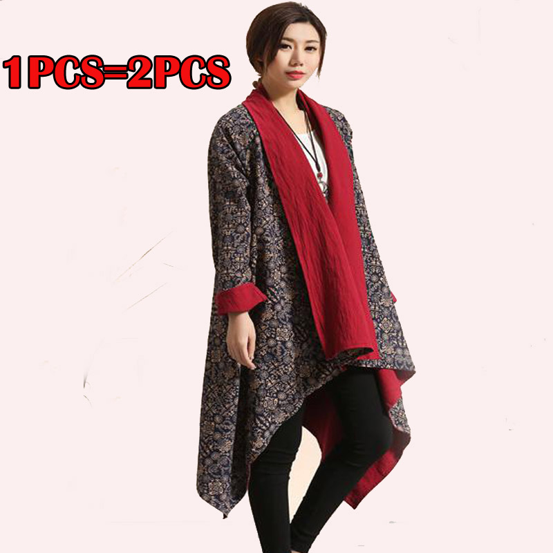 High Quality Cotton Linen Mens Tops Womens Unbalance Designers Outwear Jacket Loose Long Cardigan Draping Shawl Trendy Cape