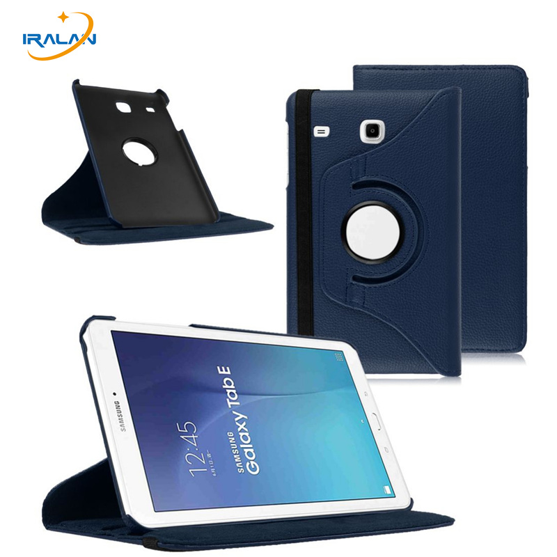 New Rotating litchi Leather Cover For Samsung Galaxy Tab E 8.0 Case PU Leather Cover for Samsung t377v T377 Case+stylus free 2017 new products luxury 360 rotating flip leather stand cover tablet case for samsung galaxy tab e 9 6 t560 t561 case stylus