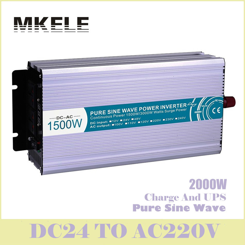 MKP1500-242-C Inverter 24v To 220v 1500w Pure Sine Wave Solar Voltage Converter With Charger And UPS Digital Display China rs232 to rs485 converter with optical isolation passive interface protection