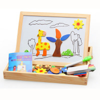 Wood Puzzle DIY Model Kits Toy Magnetic Puzzle Clever Board Animal Forest Style 3D Jigsaw Puzzle
