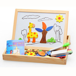 Wood puzzle diy model kits toy magnetic puzzle clever board animal forest style 3d jigsaw puzzle.jpg 250x250