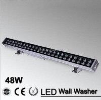 2pcs/lot 48w led flood spot light LED Wall Washer Light 48W 1000mm*70*55mm AC85 265V IP65 Waterproof led wall Outdoor Lighting