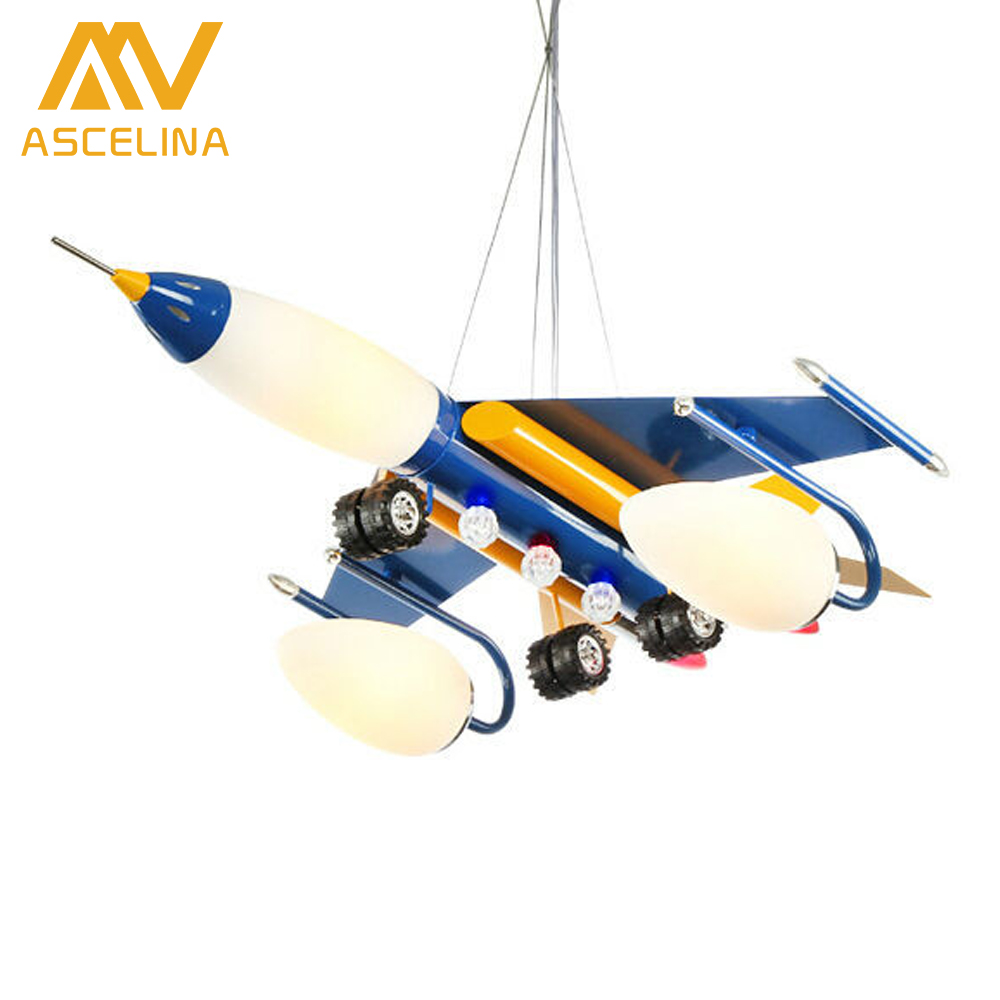 ASCELINA The airplane pendant lamp for children bedroom Bee Cartoon Pendant Light lampshade Modern plane Children Night Lights ascelina the airplane pendant lamp for children bedroom bee cartoon pendant light lampshade modern plane children night lights