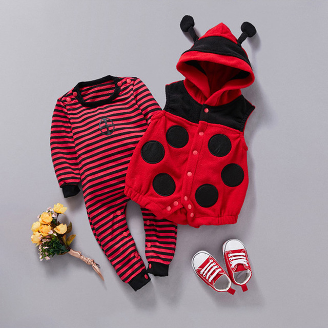 Baby Clothes Baby Bees Ladybug Vest Climbing Clothes Baby Two Pieces