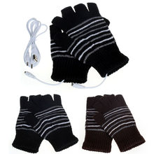 New 5V USB Powered Heating Heated Winter Hand Warmer Gloves Washable USB heating gloves Unisex Men Women Winter Gloves(China)