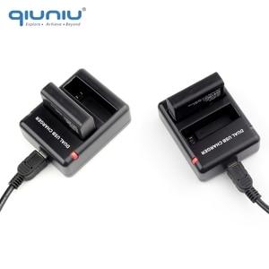 Image 5 - QIUNIU puerto de carga con doble ranura para GoPro Hero 4, cargador de dos baterías, batería de AHDBT 401 con Cable USB