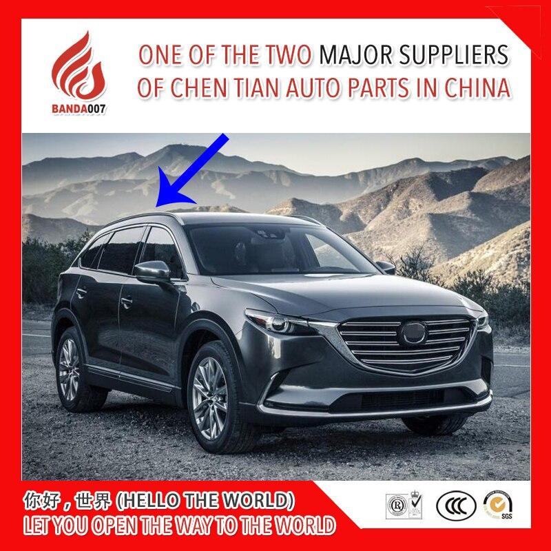 Noir argent couleur En alliage D'aluminium vis installer rail latéral bar barres de toit pour Mazda CX-9 cx9 2016 2017 2018 16 17 18