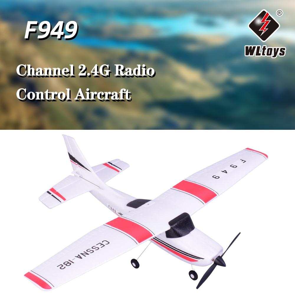 WLtoys F949 CESSNA 182 2.4G 3CH RC RTF Vliegtuig Radio Afstandsbediening Vliegtuigen Vaste Vleugel Vliegtuig Outdoor Speelgoed Drone-in RC Vliegtuigen van Speelgoed & Hobbies op  Groep 1