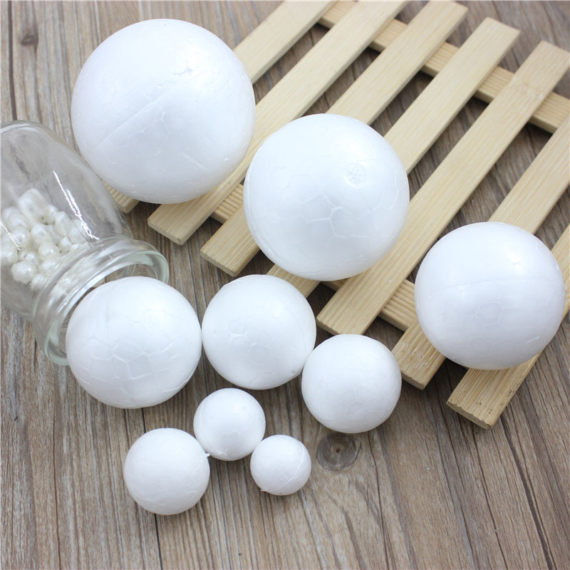 13 Kinds Different Size Polystyrene Styrofoam Foam Ball White Craft Balls For DIY Christmas Party Decoration Supplies Gifts