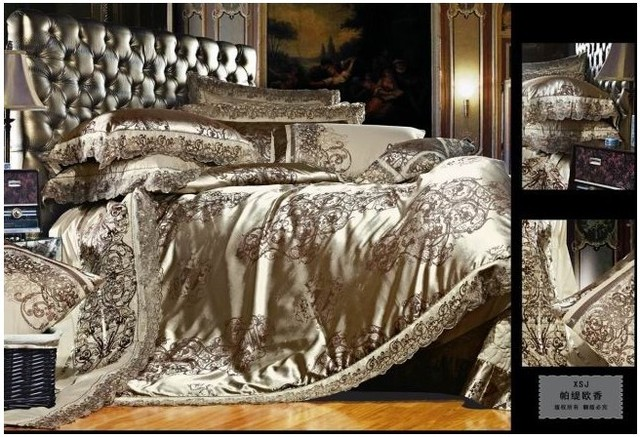 mulberry satin de soie jacquard literie de luxe couette. Black Bedroom Furniture Sets. Home Design Ideas