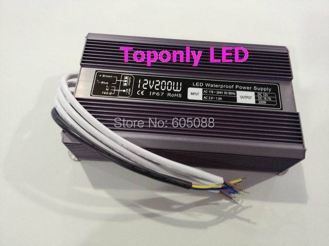 200w led light transformer 12v constant voltage led power supply ac110v 220v to dc12v led driver aluminum shell ip67 waterproof 200w led driver dc36v 6 0a high power led driver for flood light street light ip65 constant current drive power supply