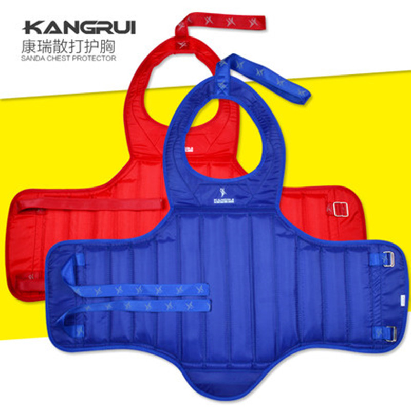 Hot sale canvas water-proof MMA chest gear protector Taekwondo Karate chest guards Child ...