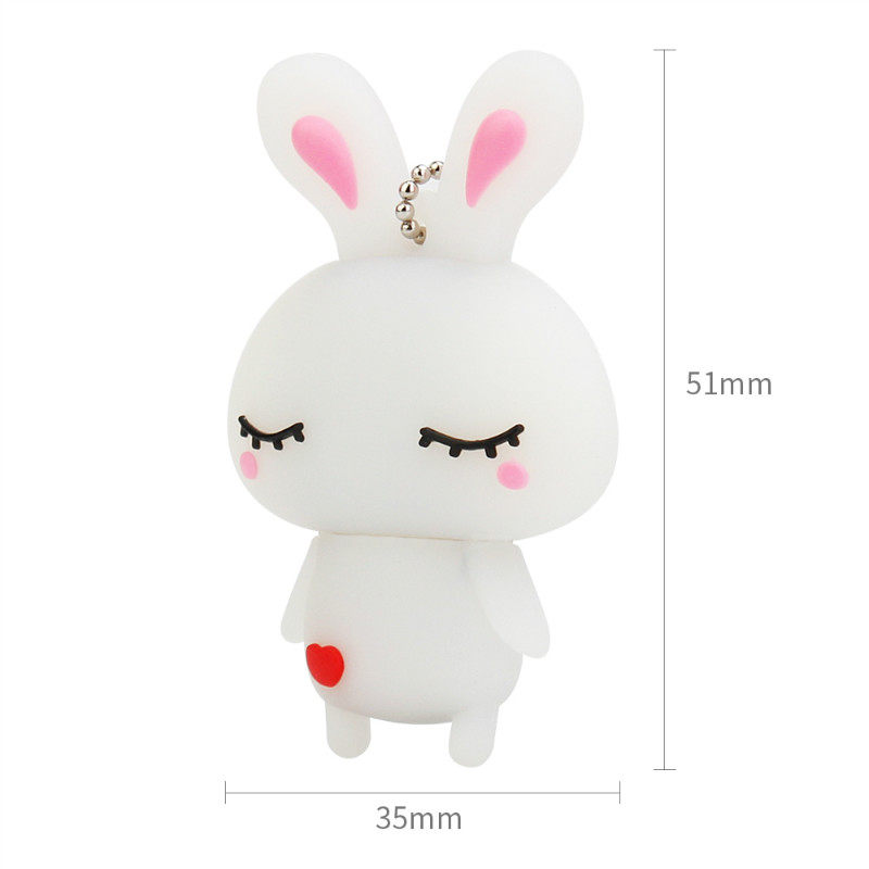Image 3 - Usb Flash Drive 4GB 8GB 16GB 32GB Cute Mini Pink Rabbit Cartoon Animal Pendrive High Quality Silicone Usb2.0 Pen Drive Best Gift-in USB Flash Drives from Computer & Office