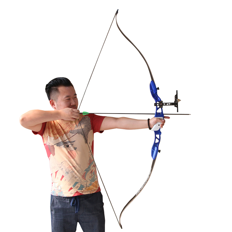 1pc aluminum blue bow riser 66 30 lbs takedown bow limbs hunting competition archery bow and arrow low price wholesale archery equipment hunting carbon arrow 31 400 spine for takedown bow targeting 50pcs