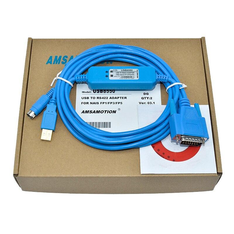 USB-FP3//FP5,USB-AFP8550 Programming Cable for Panasonic Nais FP3//FP5 PLC