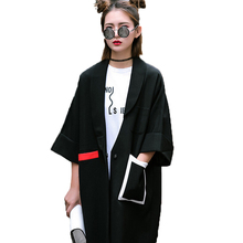 2016 Autumn Women New Asymmetric Hit Color Brand Fashion Trench Coat  Female Trench Coat Fashion Top