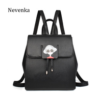 NEVENKA Women Casual Backpack Female Cartoon Pattern Back Pack Teenager Girl Daily Fashion School Bag Lady