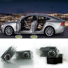 цена на 2x LED Car Door Welcome Light Logo Ghost Shadow Lamp For Audi A4 B5 B6 B7 B8 A5 A1 A3 C5 A6 C6 C7 A7 A8 Q3 Q5 Q7 TT 8L Projector