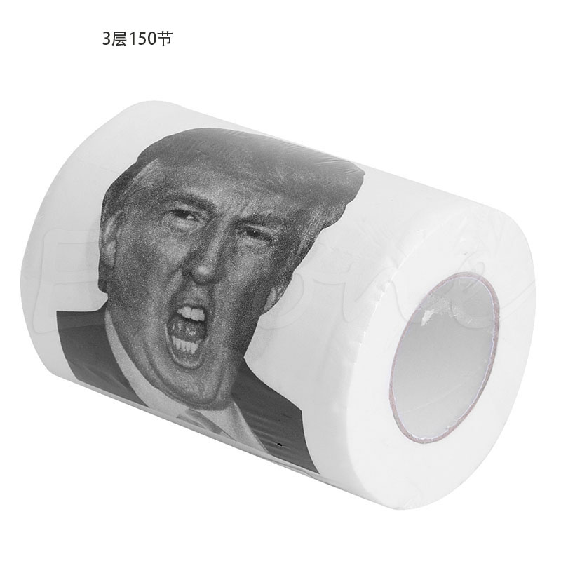 3 Ply 150 Sheet Home Toilet Tissue Roll Donald Trump Toilet Paper Soft Printed T32