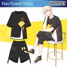 Аниме Fate/Grand Order FGO Gilgamesh, костюм для косплея, футболка, штаны, летний топ, повседневная одежда, унисекс, новинка