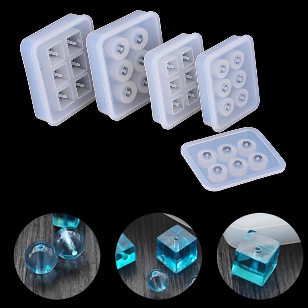 Case Makeup-Organizer Storage-Box Bead Mould Jewelry Hanging-Holes Square Clear Resin-Making