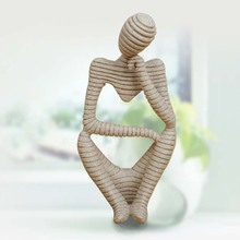 2017 Christmas Modern Home Decor New Ideas Sandstone Stripes Abstract  Figure Crafts Resin Furnishing Articles Sculpture