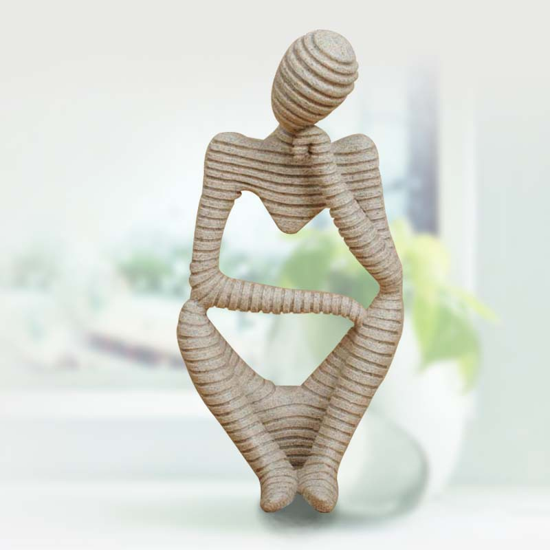2016 Christmas Modern Home Decor New Ideas Sandstone Stripes Abstract Figure Crafts Resin Furnishing Articles Sculpture Clay
