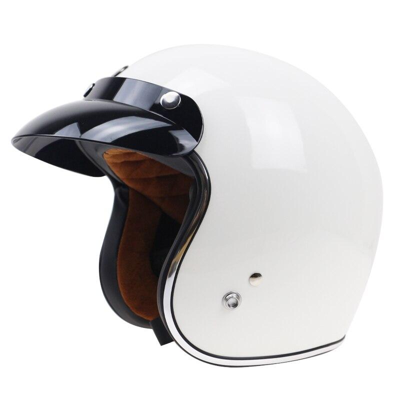 DOT утвержден ТОРК Джет мотоциклетный шлем 3/4 открытым лицом шлем классический 3 розовый пряжка Fit козырек и может поместиться пузырь щит