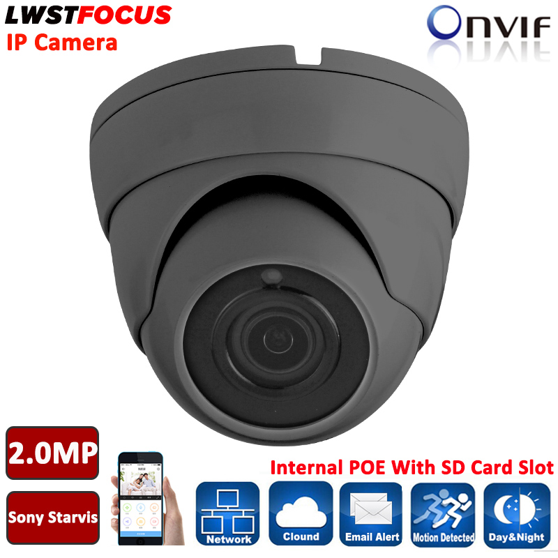 Sony Starvis IMX290+Hi3516C 2MP IP Camera outdoor POE ONVIF 1080P H.264/265 Securiy Dome Support Phone Android IOS SD Card Slot h 265 h 264 4mp ip camera 5mp 2 8 12mm zoom lens ov4689 hi3516d ip camera 4mp ip66 outdoor ip camera poe onvif with sd card slot