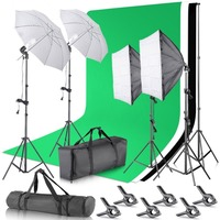 Neewer 2 6M X 3M 8 5ft X 10ft Background Support System And 800W 5500K Umbrellas